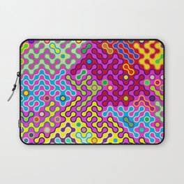 Abstract Psychedelic Pop Art Truchet Tile Pattern Laptop Sleeve