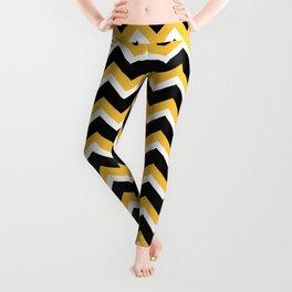 Yellow Black Chevron Leggings