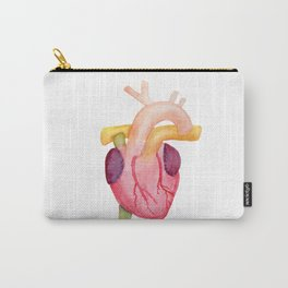 Watercolor Anatomical Heart Carry-All Pouch