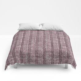 Dusty Pink Jersey Knit Pattern Comforters