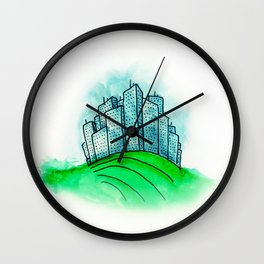 City on a Hill Wall Clock