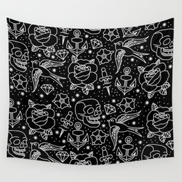 Black flash Wall Tapestry