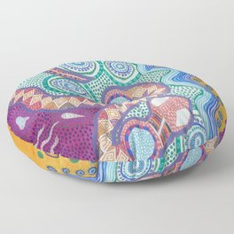 Rainbow Serpent Floor Pillow