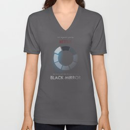 Black Mirror, minimalist tv series poster, alternative movie print, netflix Unisex V-Neck