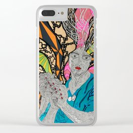 Our Lady of the Visionary Way Clear iPhone Case