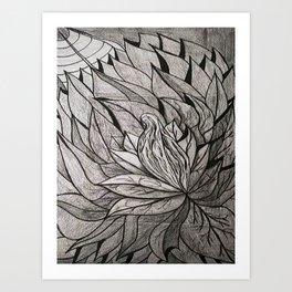 ATRAPADA Y SOLA Art Print