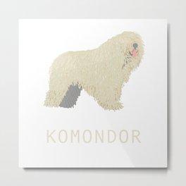 Komondor Metal Print