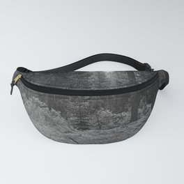 Backpacking Camp Fire B&W Fanny Pack