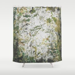 Abstract Sprout Shower Curtain