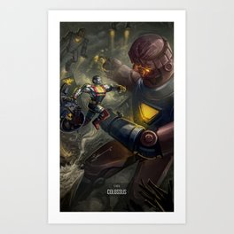 X-men fanart - Colossus! Art Print