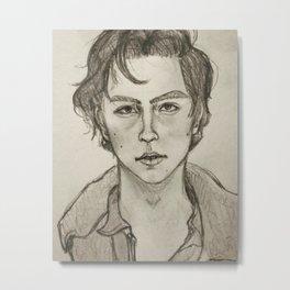 Cole Sprouse Portrait Metal Print