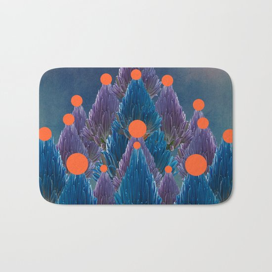 Floral abstract(49). Bath Mat