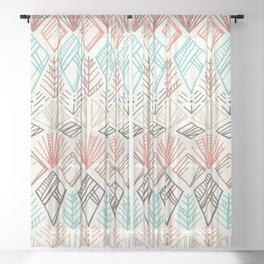 Boho Ethnic Pattern Sheer Curtain