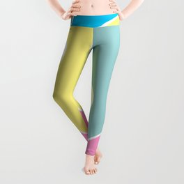 Memphis style art with line Leggings