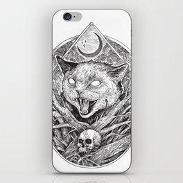 Wild cat b/w iPhone Skin