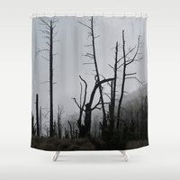 death Shower Curtains featuring Death by Hunter J.