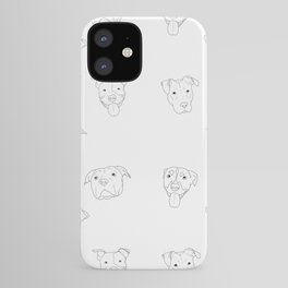 White pit bull love iPhone Case