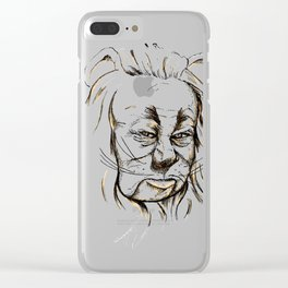 Cowardly Lion - If only Clear iPhone Case
