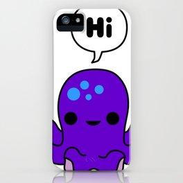 Octopus Conversation iPhone Case