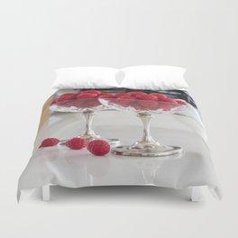 Raspberry desserts Duvet Cover