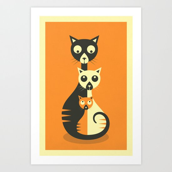 3 Cats Art Print