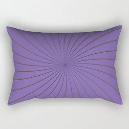 3D Purple and Gray Thin Striped Circle Pinwheel Digital Graphic Design Rectangular Pillow