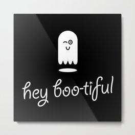 Hey Boo-tiful Ghost Metal Print