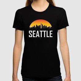 Sunset Skyline of Seattle WA T-shirt