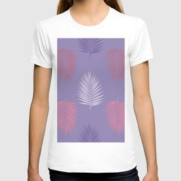 Ultra violet tropical palm leaves seamless pattern. Vector illustration. T-shirt