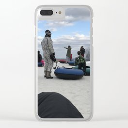 Snow Tubing Clear iPhone Case