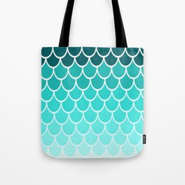 Ombre Fish Scale Pattern Tote Bag