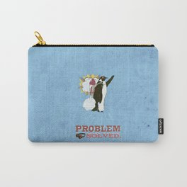 problem solved.. penguins and jetpacks Carry-All Pouch