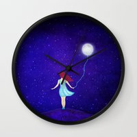 redhead Wall Clocks featuring redhead by Nancy Woland