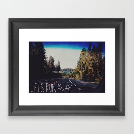 Let's Run Away IV Framed Art Print