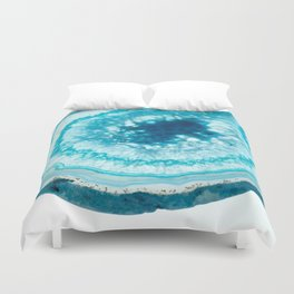 Turquoise Agate Well Duvet Cover