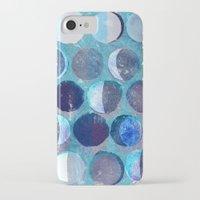 calendar iPhone & iPod Cases featuring lunar calendar by marella