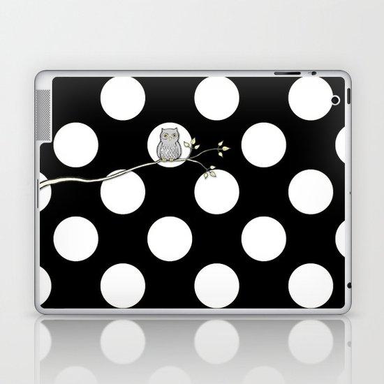 Out on a Limb - Polka Dot Owl Moon Laptop & iPad Skin