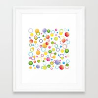 circles Framed Art Prints featuring Circles by victimArte