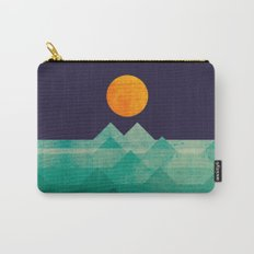 The ocean, the sea, the wave - night scene Carry-All Pouch