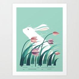Rabbit, Resting Art Print