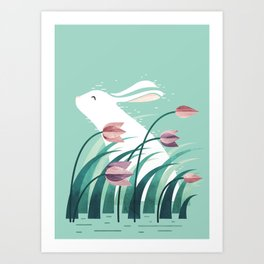 Rabbit, Resting Art Print
