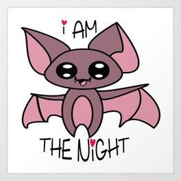 Yoru the kawaii bat who was afraid of the dark Art Print