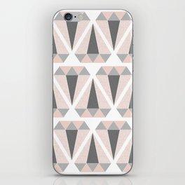 Geometric Diamond in Pink and Gray iPhone Skin