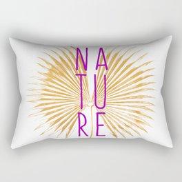 Nature - Botanical Minimalism Typography Rectangular Pillow