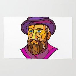 Old Portuguese Explorer Mosaic Color Rug