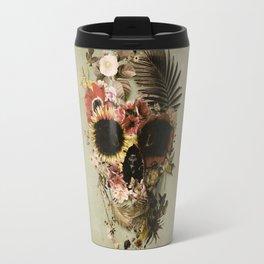 Garden Skull Light Travel Mug