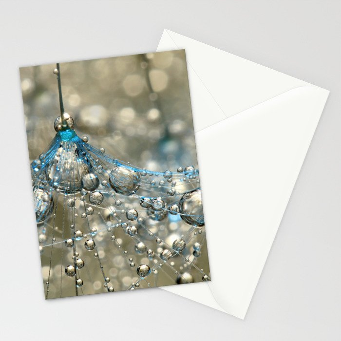 Cyan & Gold Stationery Cards
