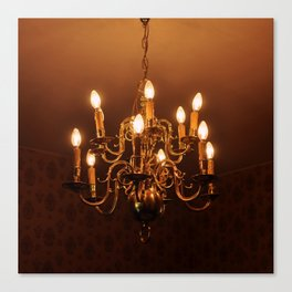 Glowing Chandelier Canvas Print