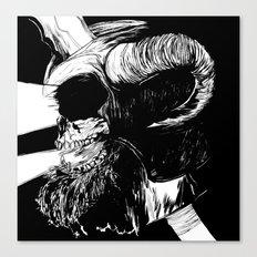 The Dead: Viking Skull of Power Canvas Print
