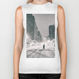 New York City - Snowstorm Biker Tank